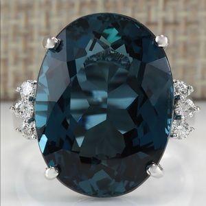 Jewelry - Sz 8 925 SS London Blue Topaz Ring NWT NEW ITEM